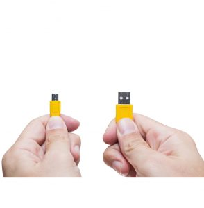 USB and micro USB connections