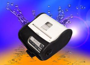 3 inch, white, Fujitsu, portable printer in black carry case